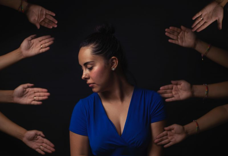 photo of woman with hands - for rejection exposure post